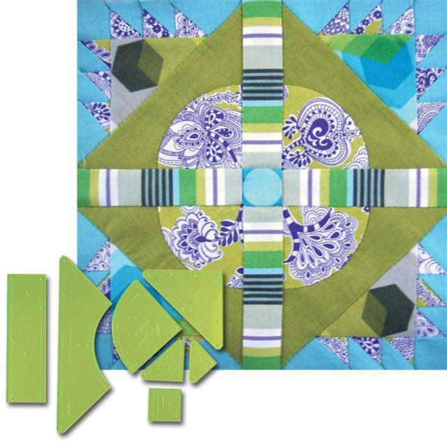 Matilda's Own Crossroads Patchwork Template Set by  Quilt Blocks - OzQuilts
