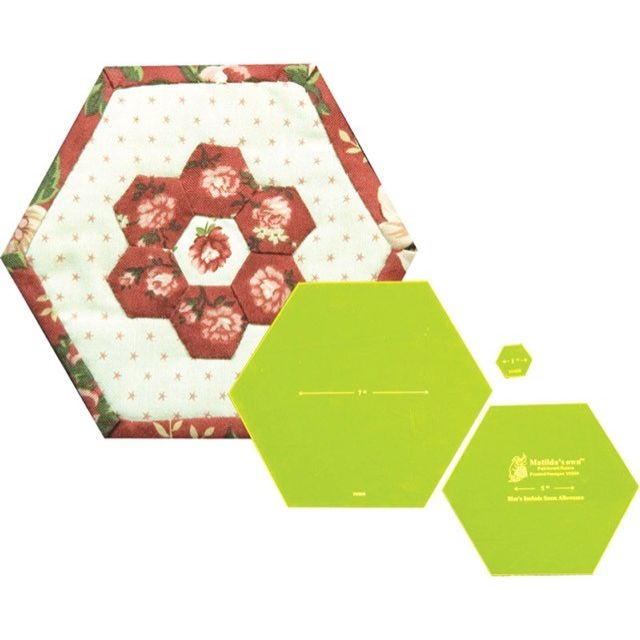 Matilda's Own Framed Hexagons Quilt As You Go Patchwork Template Set by Matilda's Own Quilt Blocks - OzQuilts