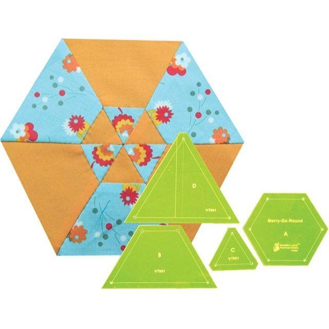 Matilda's Own Merry-Go-Round Patchwork Template Set by Matilda's Own Quilt Blocks - OzQuilts