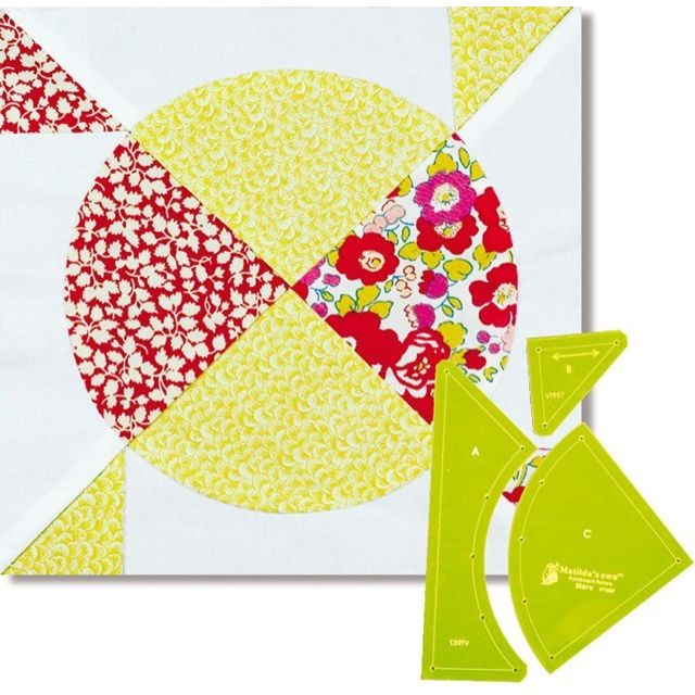 Matilda's Own Maru (Circle) Patchwork Template Set by Matilda's Own Quilt Blocks - OzQuilts