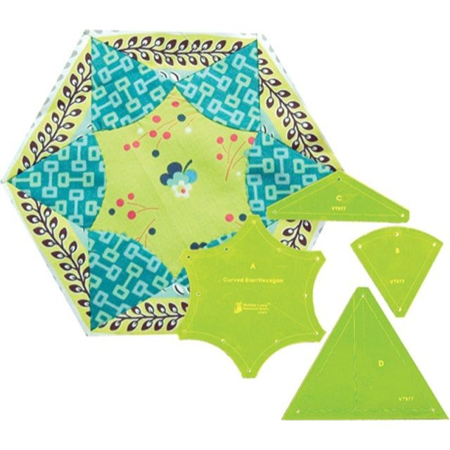 Matilda's Own Curved Star Hexagon Patchwork Template Set by Matilda's Own Quilt Blocks - OzQuilts