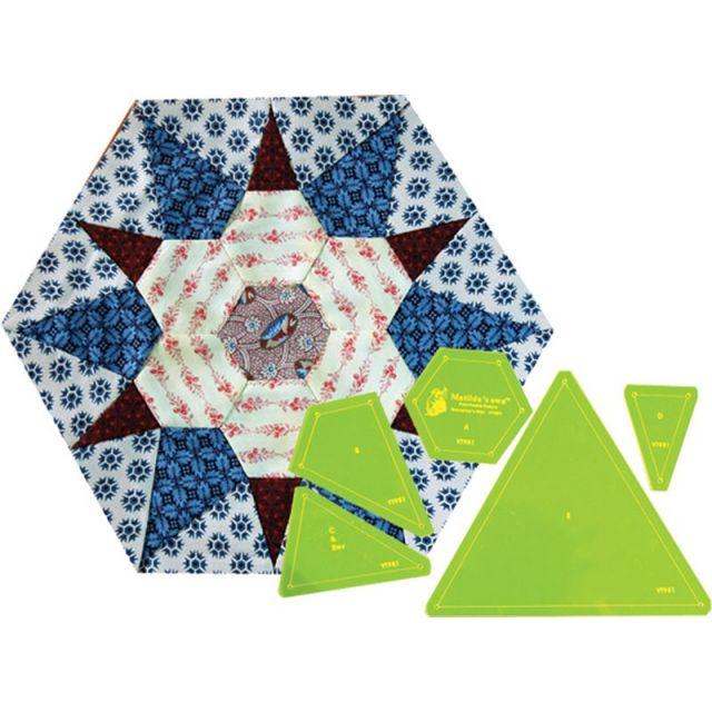 Matilda's Own Grandma's Star Patchwork Template Set by Matilda's Own Quilt Blocks - OzQuilts