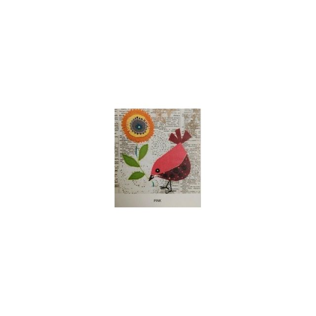 Wendy Williams Pre-Cut Wool Applique Pack - Little Bird Pink by Wendy Williams of Flying FIsh Kits Wendy Williams Wool Felt Precut Kits - OzQuilts