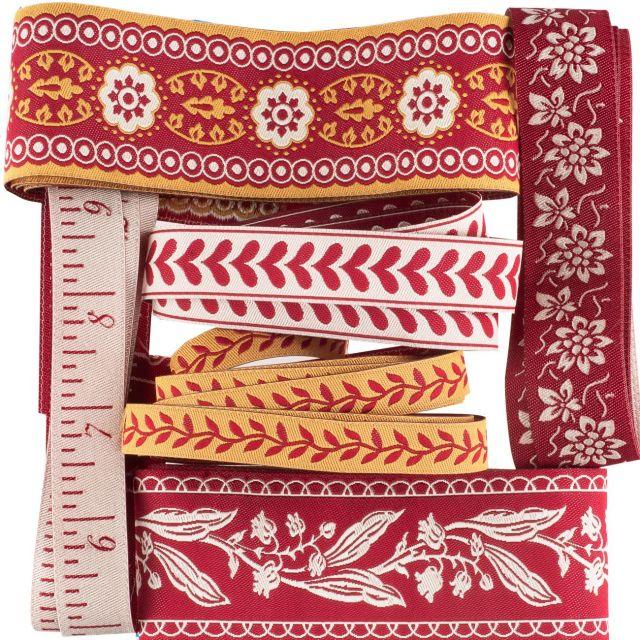 French General La Vie en Rouge Designer Ribbon Collection - 6 Yards by Renaissance Ribbons - Ribbon