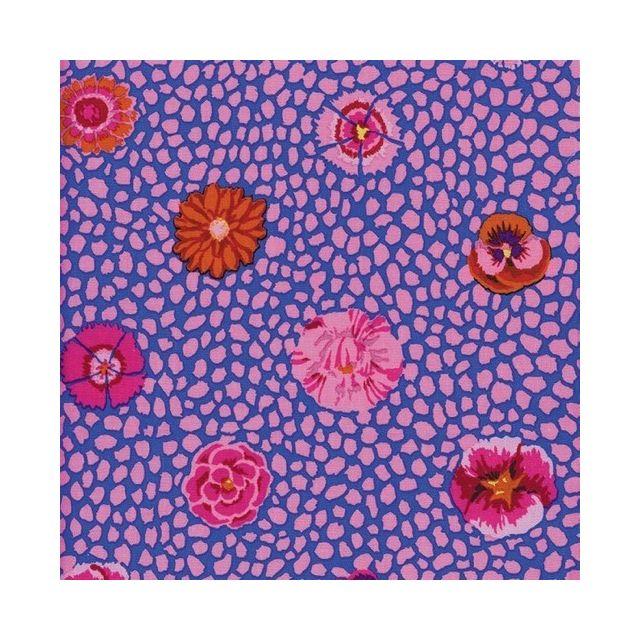 Guinea Flower - Pink by The Kaffe Fassett Collective Guinea Flower - OzQuilts