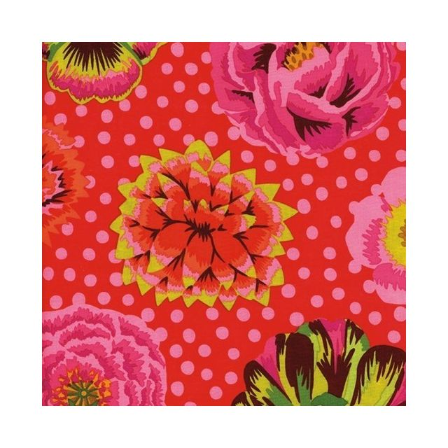 Big Blooms - Red by The Kaffe Fassett Collective Big Blooms - OzQuilts