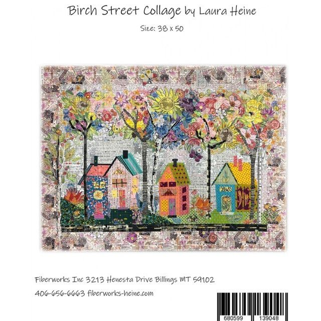 Birch Street Collage by Laura Heine by Fiberworks Collage  - OzQuilts