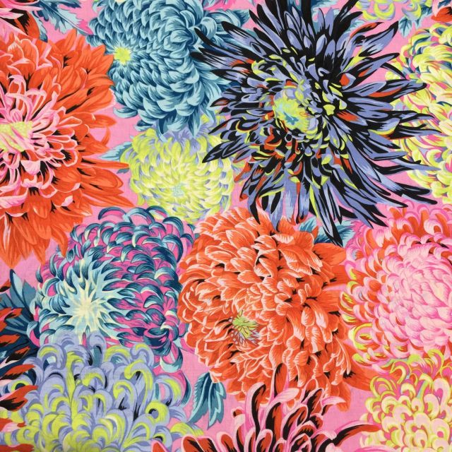 Japanese Chrysanthemum - Contrast by The Kaffe Fassett Collective Japanese Chrysanthemum - OzQuilts