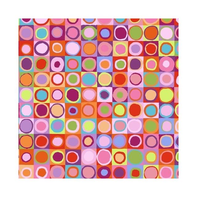 Tiddlywinks - Red by The Kaffe Fassett Collective Tiddlywinks - OzQuilts