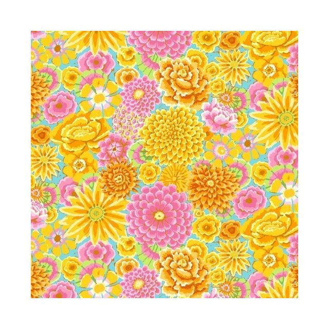 Enchanted - Yellow by The Kaffe Fassett Collective Enchanted - OzQuilts