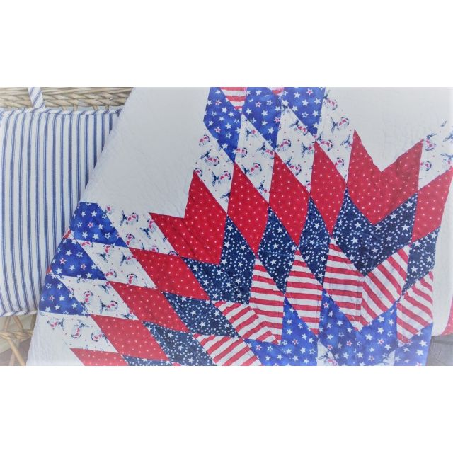 """Quiltsmart 58"""" Lone Star Pattern & Printed Fusible Interfacing Quilt Kit by Quiltsmart - Quiltsmart Kits"""