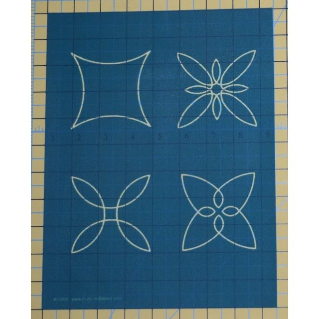 Full Line Stencil Curve Appeal by Hancy Full Line Stencils Pounce Pads & Quilt Stencils - OzQuilts