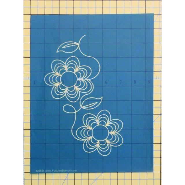 Full Line Stencil Kloster Flower by Hancy Full Line Stencils Pounce Pads & Quilt Stencils - OzQuilts