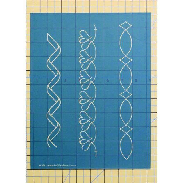"Full Line Stencil Mini Me Border 1"" width by Hancy Full Line Stencils Pounce Pads & Quilt Stencils - OzQuilts"