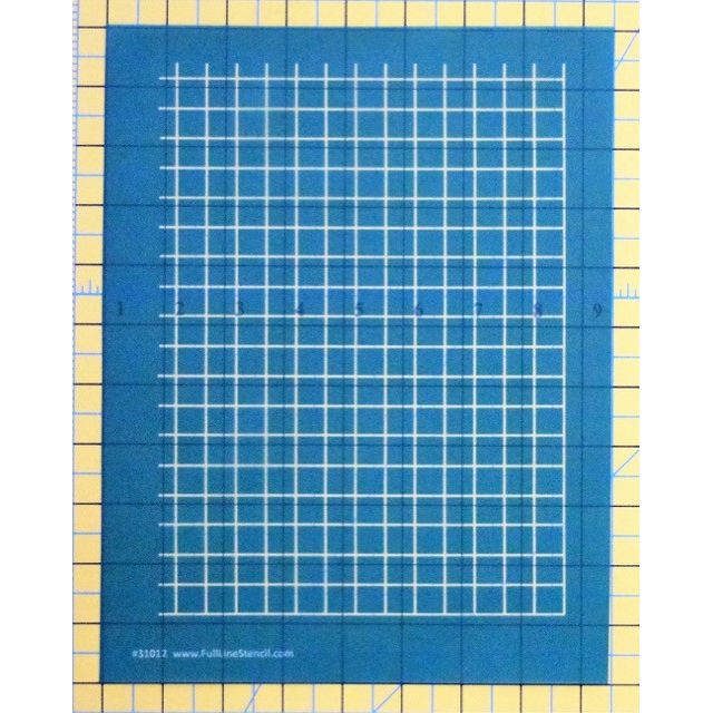 """Full Line Stencil Straight 1/2"""" grid by Hancy Full Line Stencils Pounce Pads & Quilt Stencils - OzQuilts"""