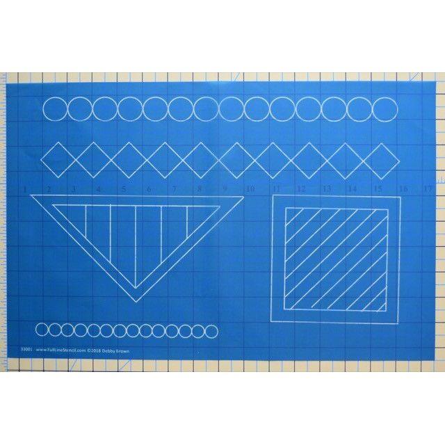Full Line Stencil Building Blocks by Hancy Full Line Stencils Pounce Pads & Quilt Stencils - OzQuilts