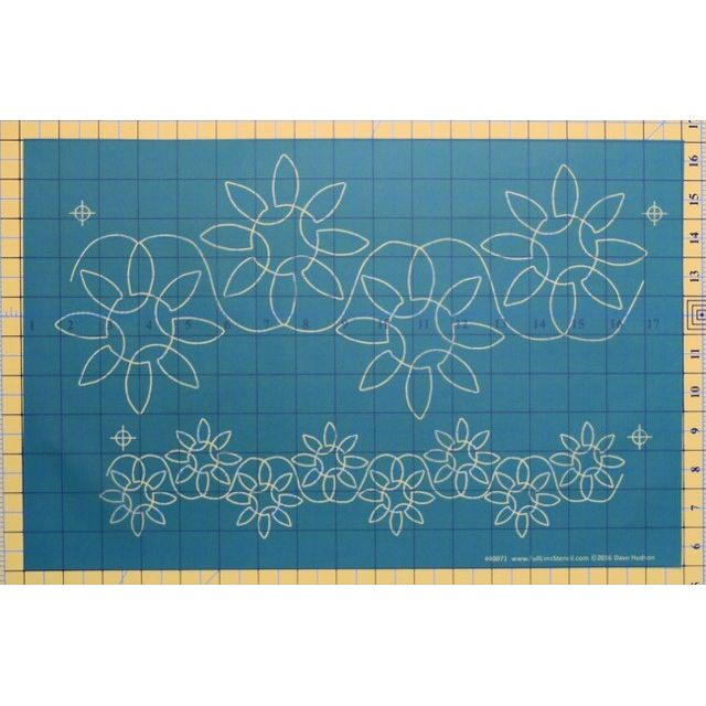 """Full Line Stencil Dancing Sunflowers - 6 ¾"""" & 3"""" by Hancy Full Line Stencils Pounce Pads & Quilt Stencils - OzQuilts"""