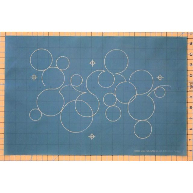 Full Line Stencil Bubbles by Dave Hudson by Hancy Full Line Stencils Pounce Pads & Quilt Stencils - OzQuilts
