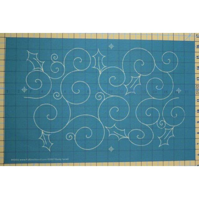 Full Line Stencil Holly Swirl by Dusty Farrell by Hancy Full Line Stencils Pounce Pads & Quilt Stencils - OzQuilts