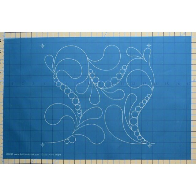"Full Line Stencil Pearl Feathers 9"" x 10"" by Hancy Full Line Stencils Pounce Pads & Quilt Stencils - OzQuilts"