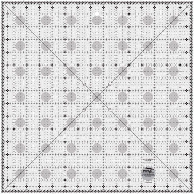 """Creative Grids XL Itty Bitty Eights 15"""" x 15"""" Ruler by Creative Grids - Square Rulers"""