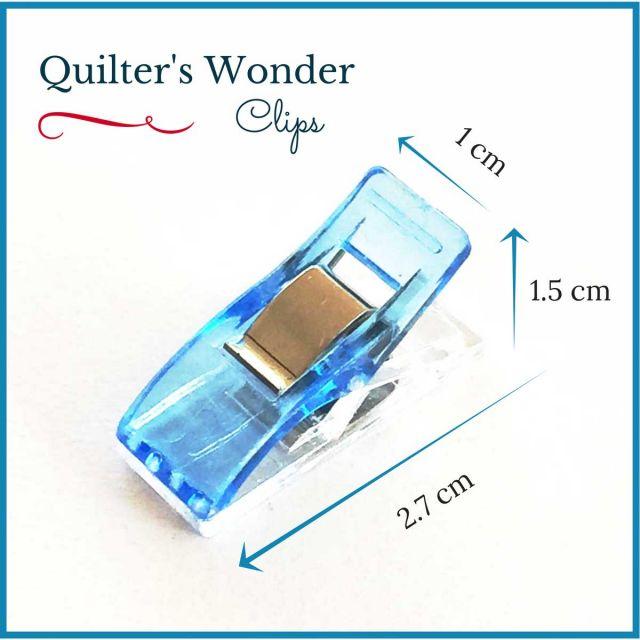 Wonder Clips Blue (25) by OzQuilts - Wonder Clips & Hem Clips