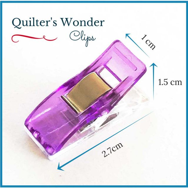 Quilter's Wonder Clips - 25 Purple Clips by OzQuilts Wonder Clips & Hem Clips - OzQuilts