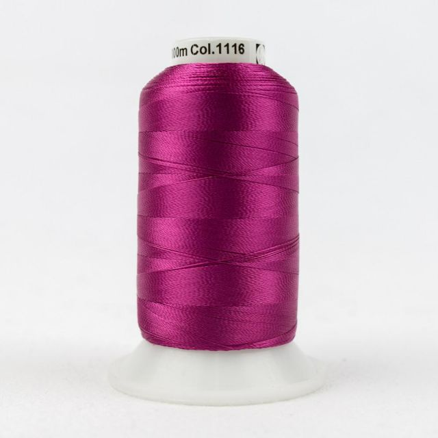 Wonderfil Splendor 40wt Rayon Thread 1000m spool - R1116 Fuchsia Red by Wonderfil Splendor 40wt Rayon - OzQuilts