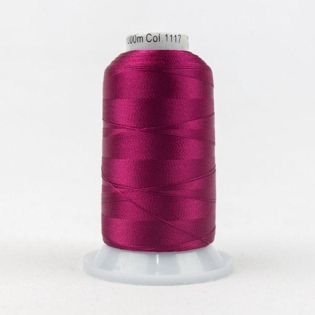 Wonderfil Splendor 40wt Rayon Thread 1000m spool - R1117 Cerise by Wonderfil Splendor 40wt Rayon - OzQuilts