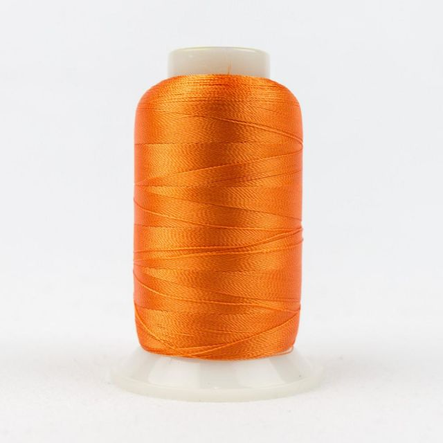 Wonderfil Splendor 40wt Rayon Thread 1000m spool - R1138 Orange Peel by Wonderfil Splendor 40wt Rayon - OzQuilts