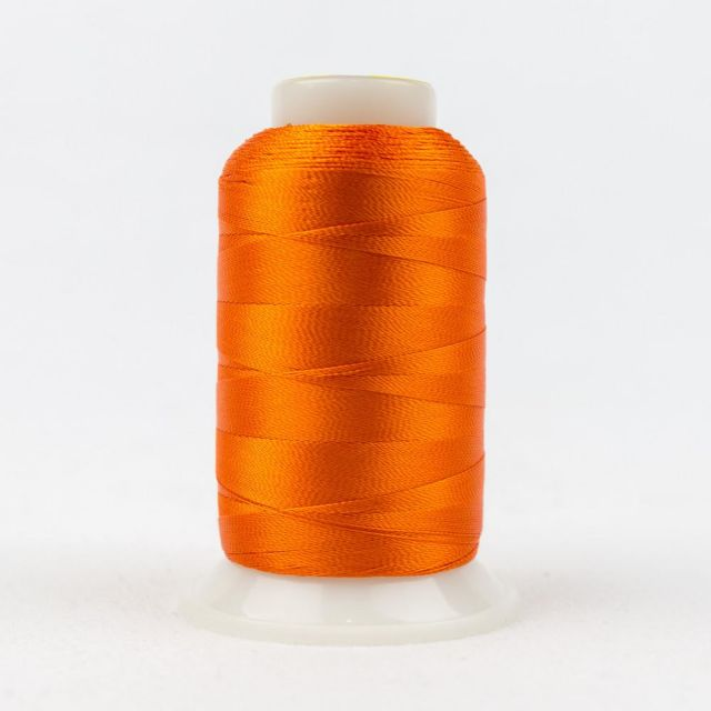 Wonderfil Splendor 40wt Rayon Thread 1000m spool - R1140 Vermillion Orange by Wonderfil Splendor 40wt Rayon - OzQuilts