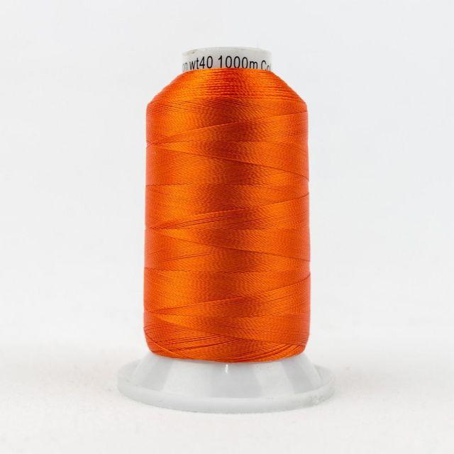 Wonderfil Splendor 40wt Rayon Thread 1000m spool - R1141 Flame by Wonderfil Splendor 40wt Rayon - OzQuilts