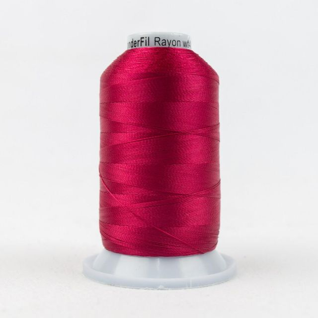 Wonderfil Splendor 40wt Rayon Thread 1000m spool - R1168 Bright Rose by Wonderfil Splendor 40wt Rayon Splendor 40wt Rayon - OzQuilts