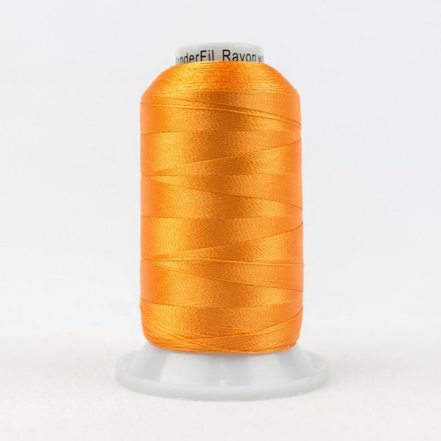 Wonderfil Splendor 40wt Rayon Thread 1000m spool - R1177 Flame Orange by Wonderfil Splendor 40wt Rayon Splendor 40wt Rayon - OzQuilts