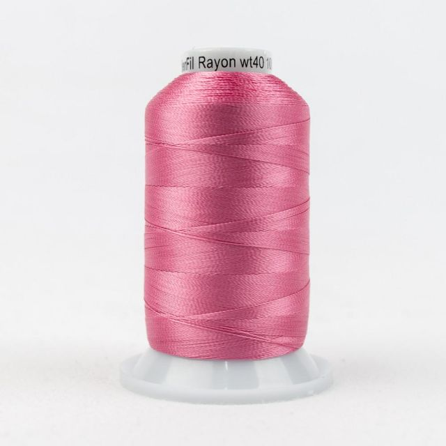 Wonderfil Splendor 40wt Rayon Thread 1000m spool - R1181 Geranium Pink by Wonderfil Splendor 40wt Rayon Splendor 40wt Rayon - OzQuilts