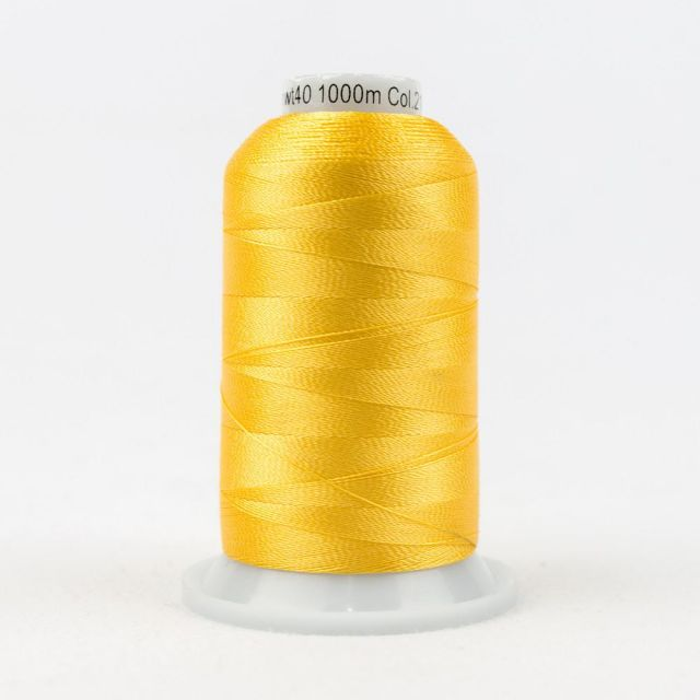 Wonderfil Splendor 40wt Rayon Thread 1000m spool - R2115 Lemon Chrome by Wonderfil Splendor 40wt Rayon - OzQuilts