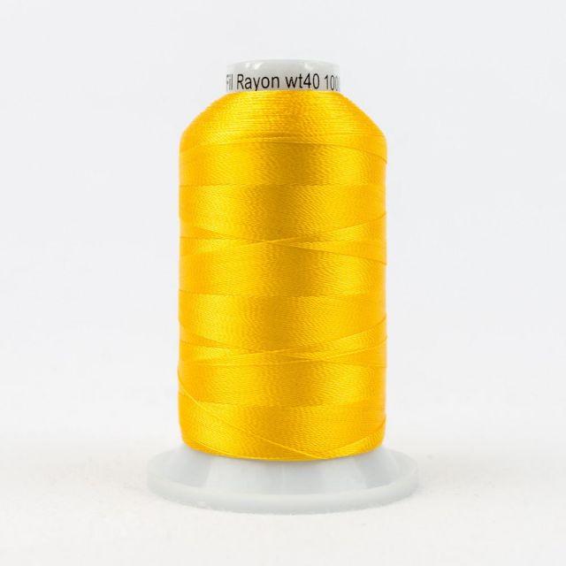 Wonderfil Splendor 40wt Rayon Thread 1000m spool - R2118 Citrus by Wonderfil Splendor 40wt Rayon - OzQuilts