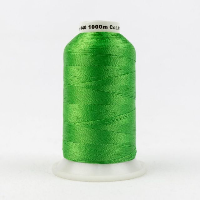 Wonderfil Splendor 40wt Rayon Thread 1000m spool - R4153 Bright Green by Wonderfil Splendor 40wt Rayon Splendor 40wt Rayon - OzQuilts
