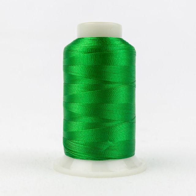 Wonderfil Splendor 40wt Rayon Thread 1000m spool - R4154 Bright Green by Wonderfil Splendor 40wt Rayon - OzQuilts