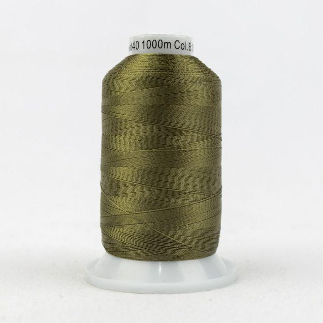 Wonderfil Splendor 40wt Rayon Thread 1000m spool - R6117 Olive Drab by Wonderfil Splendor 40wt Rayon - OzQuilts