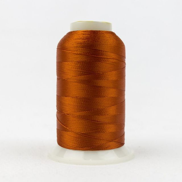 Wonderfil Splendor 40wt Rayon Thread 1000m spool - R7118 Harvest Pumpkin by Wonderfil Splendor 40wt Rayon Splendor 40wt Rayon - OzQuilts