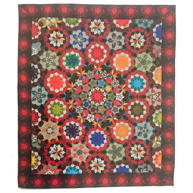 The Can Can Halo 2 inch Template Set from Millefiori Quilts 3 by OzQuilts EPP Templates - OzQuilts