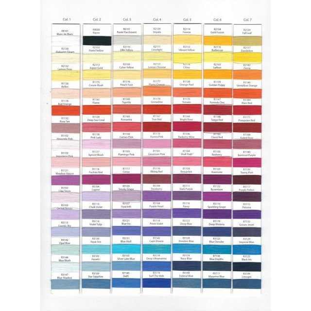 Wonderfil Splendor 40wt Rayon Thread 1000m spool - R5102 Lilac Snow by Wonderfil Splendor 40wt Rayon Splendor 40wt Rayon - OzQuilts
