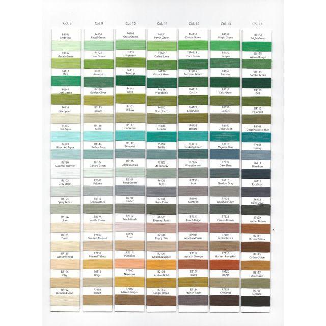 Wonderfil Splendor 40wt Rayon Thread 1000m spool - R6104 Spray Green by Wonderfil Splendor 40wt Rayon - OzQuilts