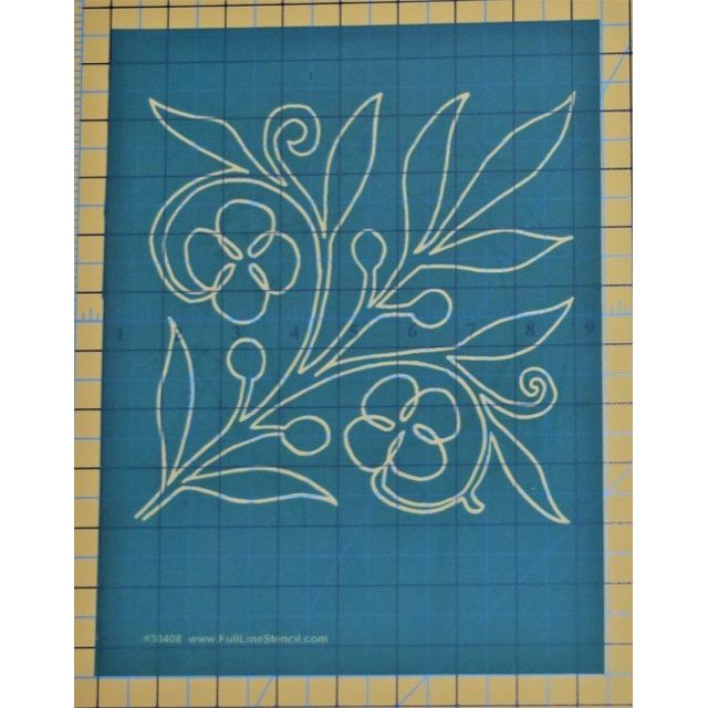 Full Line Stencil Spring Bloom by Hancy Full Line Stencils Pounce Pads & Quilt Stencils - OzQuilts