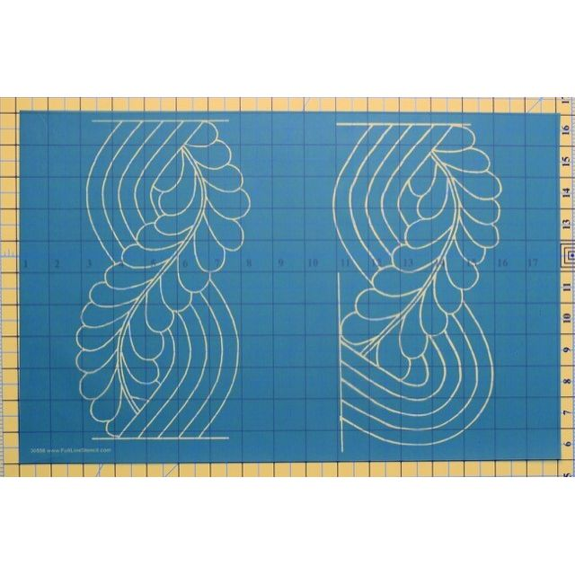 Full Line Stencil Cable Feather Border by Hancy Full Line Stencils Pounce Pads & Quilt Stencils - OzQuilts