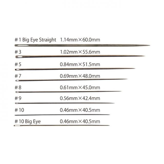 Tulip Milliners Needles Straw #10 Big Eye by Tulip - Hand Sewing Needles