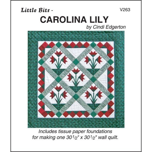 Carolina Lily Pattern and Tissue Foundation Papers by A Very Special Collection Patterns & Foundation Papers - OzQuilts