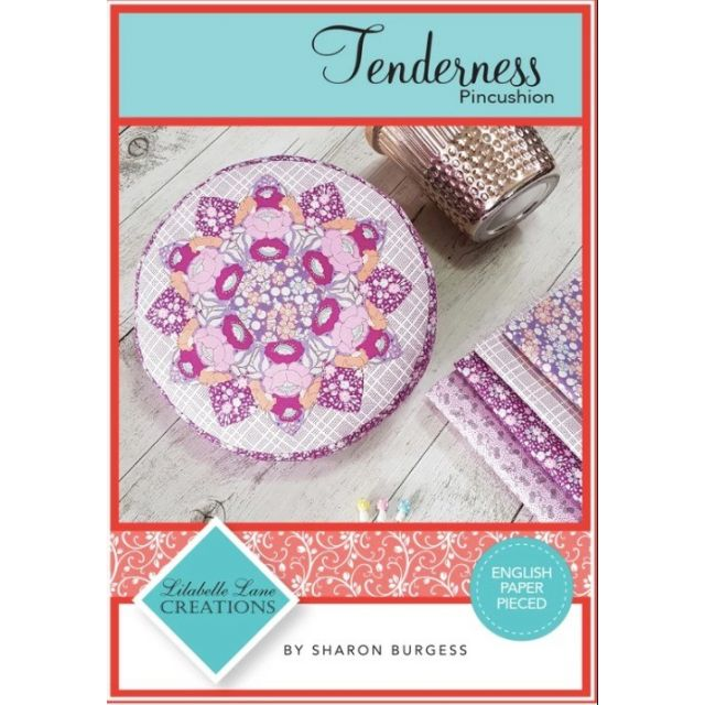 Tenderness Pin Cushion pattern, acrylic templates and papers by Lilabelle Lane Creations Paper Pieces Kits & Templates - OzQuilts