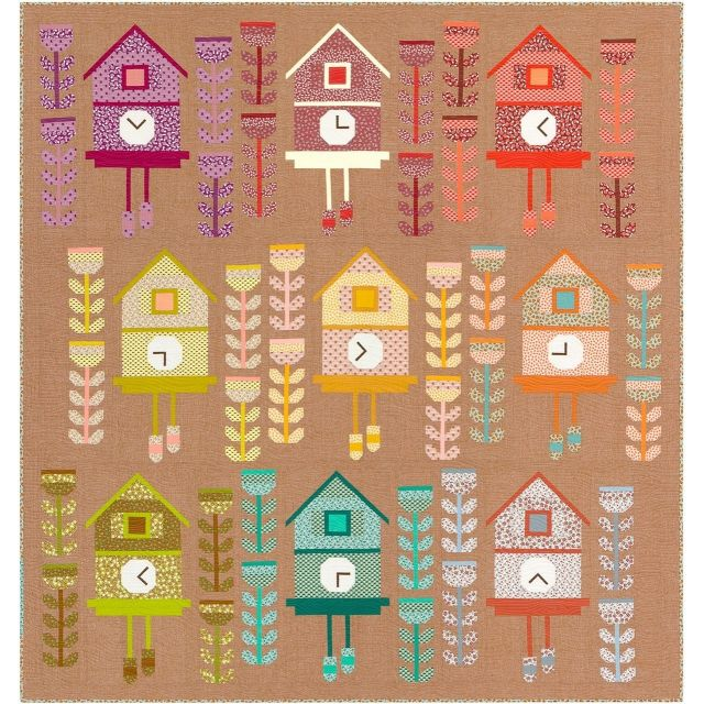 Cuckoo Quilt Kit by Elizabeth Hartman by Robert Kaufman Fabrics Great Gift Ideas - OzQuilts